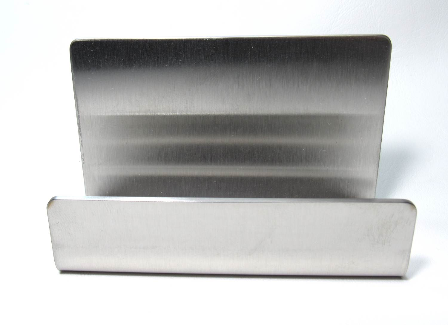 stainless steel business card holder review photo of product from front