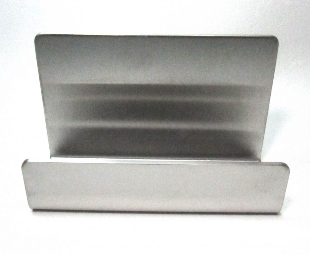 Stainless Steel Business Card Holder Front View
