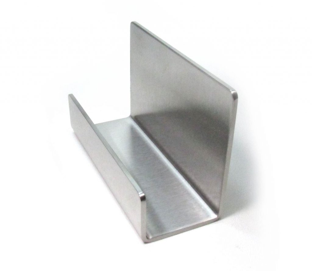 Stainless Steel Business Card Holder review right side view